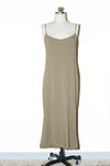 Trim Cami Dress/ Khaki