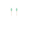 Emerald Marquise Mini Hoop Earring