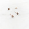 Mini Sparkling Hexagon Stud Earring