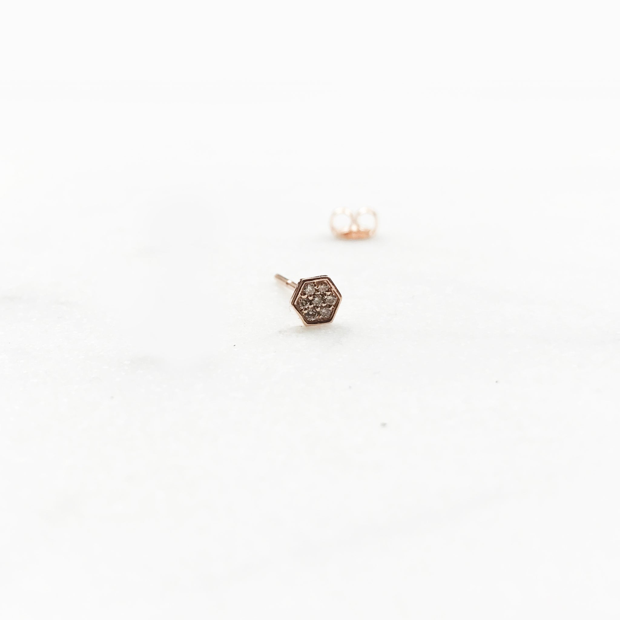 hexagon oblong rb wg drop earrings gold diamond white