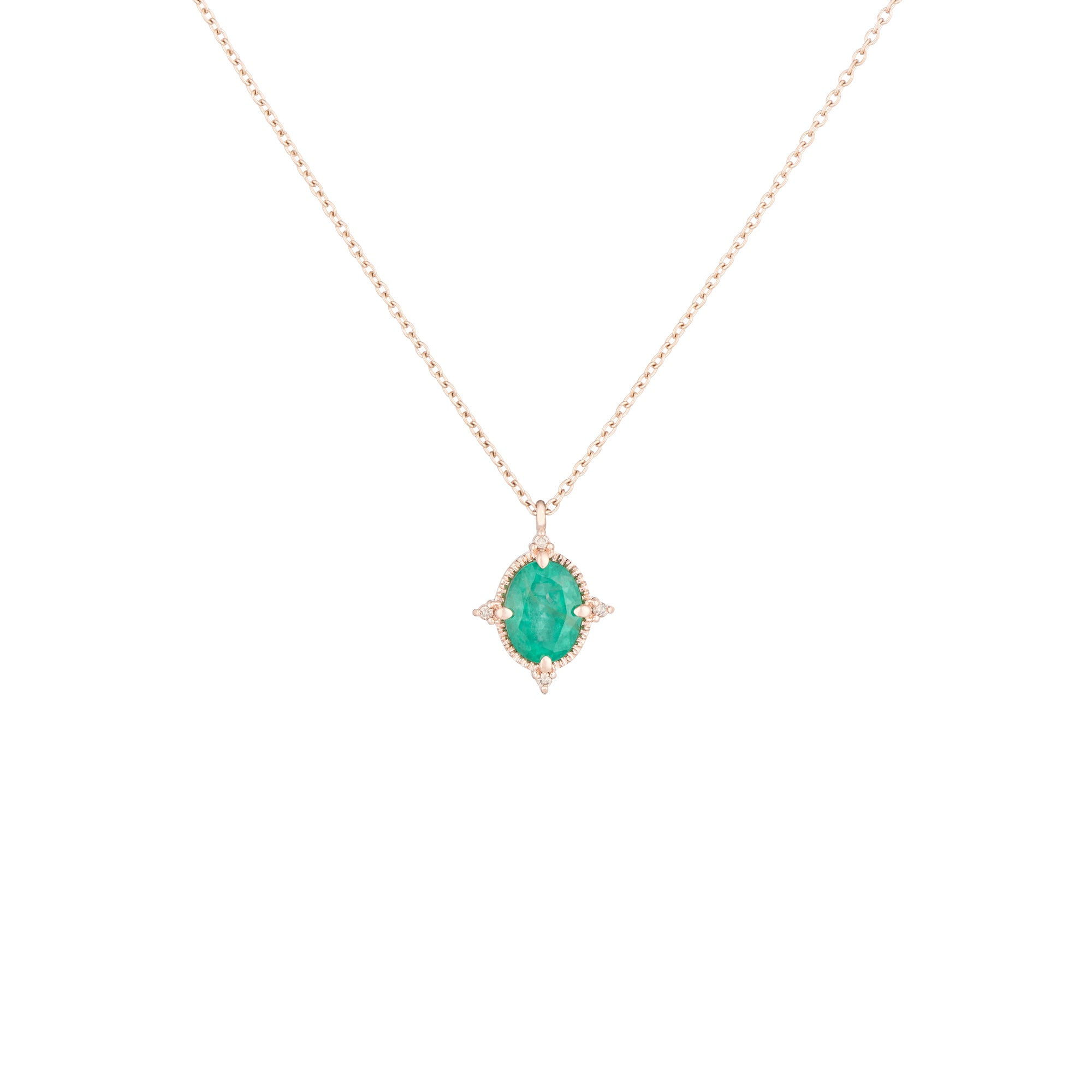 necklace emerald diamond wg carat catalog