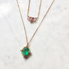 Victorian Emerald Pendant Necklace