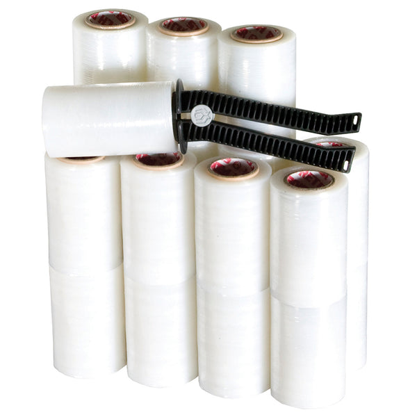 Mini Stretch Film Tensioning Handle & 20 Mini Stretch Film Rolls