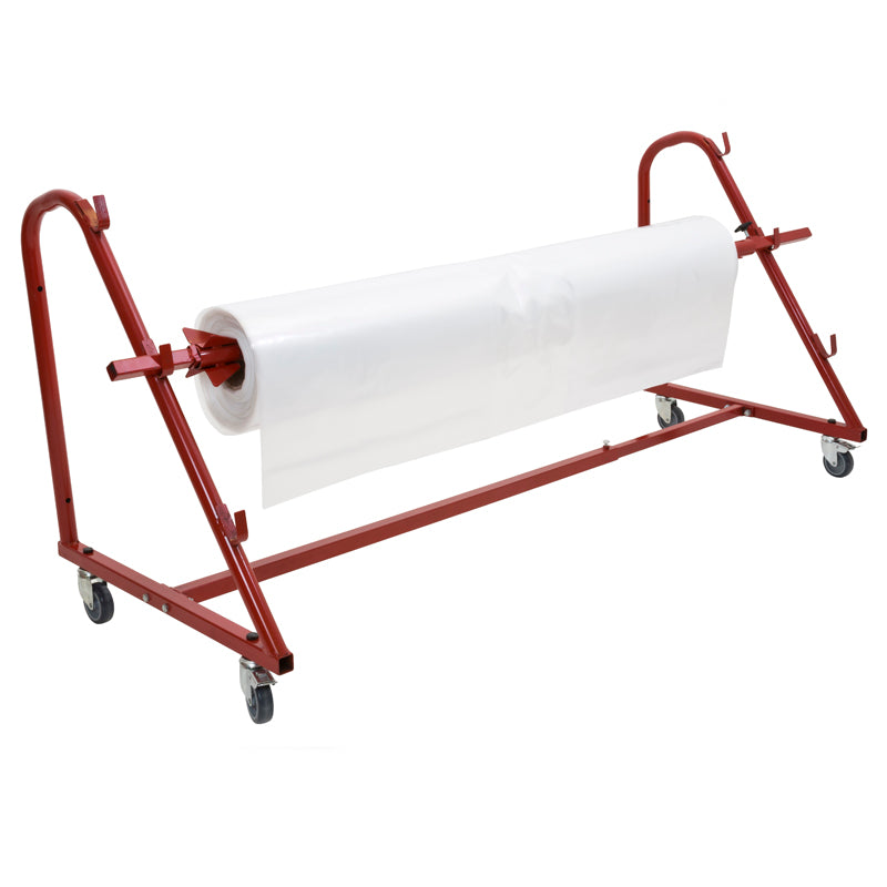Mobile Shrink Film Dispenser With One Roll Holder