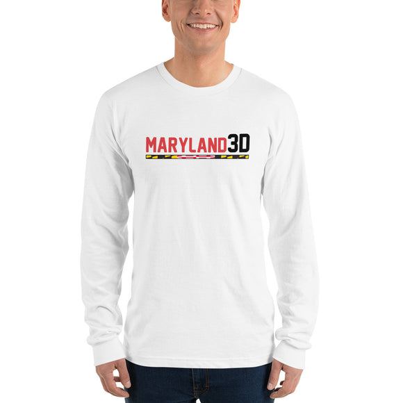 Maryland 3D Long sleeve t-shirt (white)
