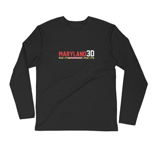 Maryland 3D Long Sleeve Fitted Crew (Dark)