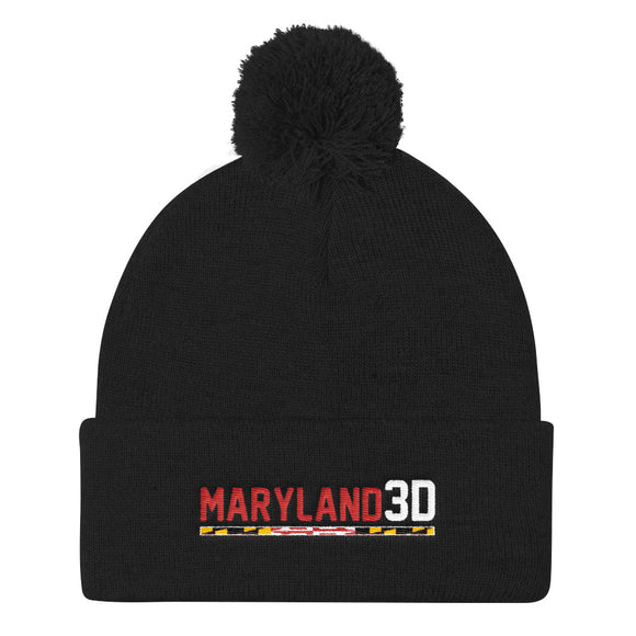 Maryland 3D Pom Pom Knit Cap