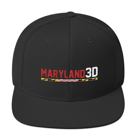 Maryland 3D Snapback Hat