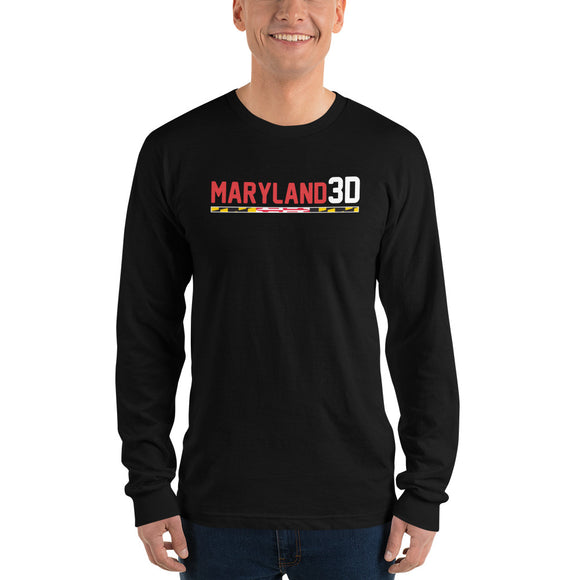 Maryland 3D Long sleeve t-shirt (Dark)