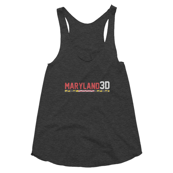 Maryland 3D Women's Tri-Blend Racerback Tank