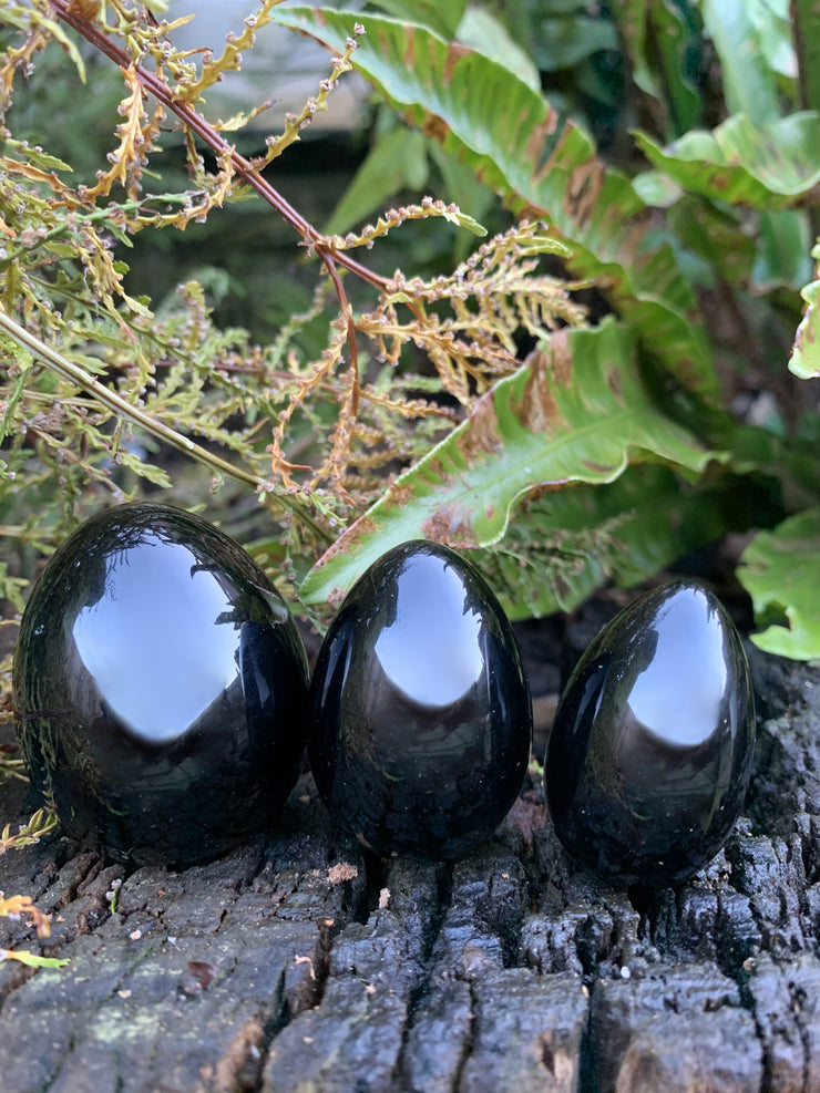 Jet Black Yoni Eggs Undrilled