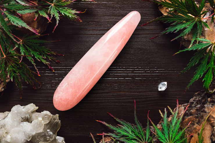 Large Rose Quartz Yoni Wand