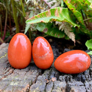 Red Jasper Yoni Eggs - Drilled