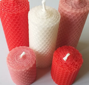 Pure beeswax church style candles
