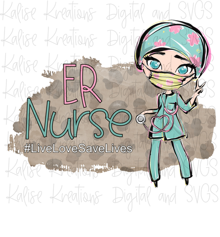 ER Nurse Blue Eyes PNG