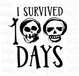 I Survived 100 days mini bundle PNG