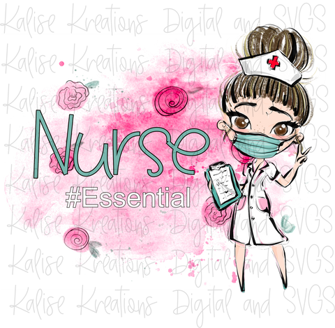 Nurse Essential Brown eyes PNG
