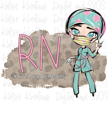 RN pink, blue eyes PNG