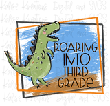 Roaring Into School bundle PNG Files