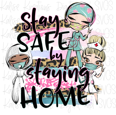 Stay Safe by staying Home medical (leopard) PNG
