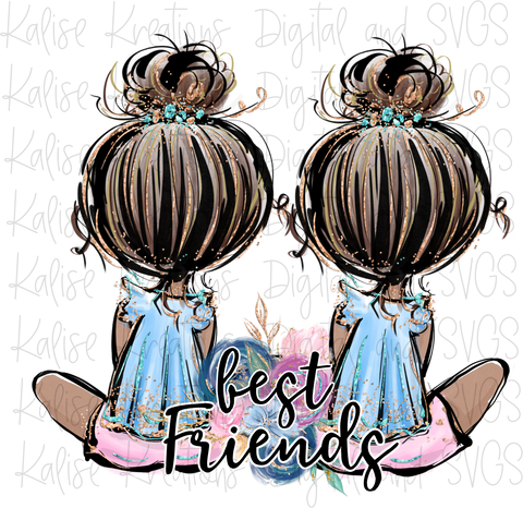 Best Friends Dark Skin PNG