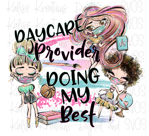 Daycare provider mini bundle PNG