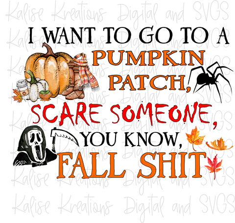 Fall Sh*t scare someone (without Pumpkin Spice Latte) PNG