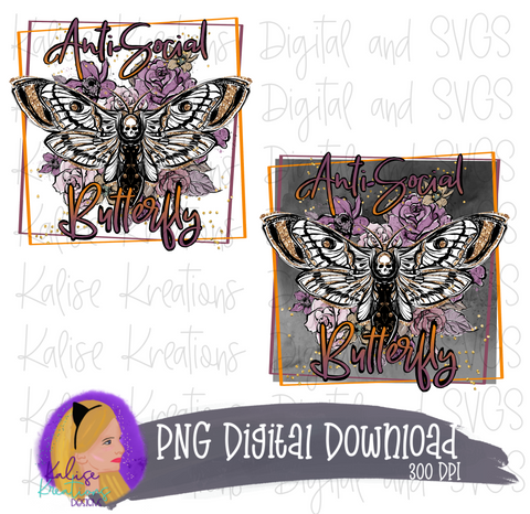 Anti-Social Butterfly Mini bundle PNG