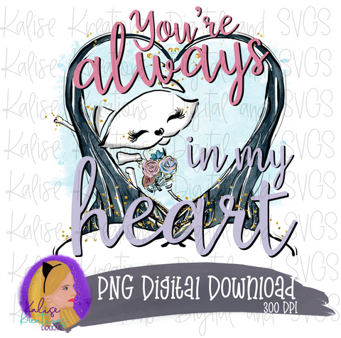You're always in my Heart (skeleton cat) PNG