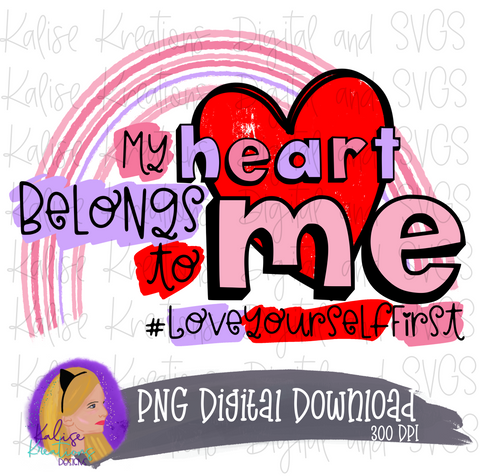 My heart belongs to Me PNG