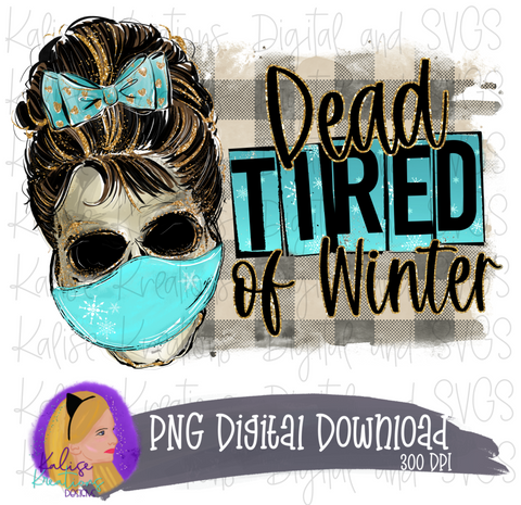 Dead tired of Winter with mask PNG