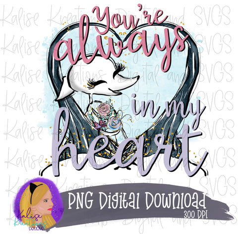 You're Always in my Heart (skeleton dog) PNG