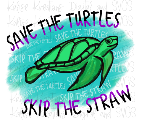Save the turtles, skip the straw PNG