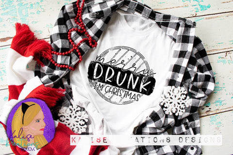 Merry Drunk, I'm Christmas ready to press screen print transfers