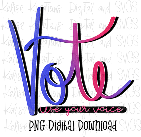 Vote, use your voice PNG