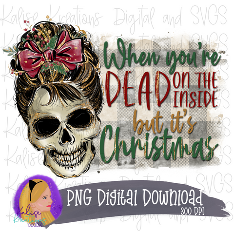When you're Dead on the inside but it's Christmas PNG
