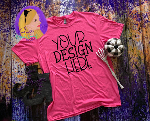 Witchy Gildan 64000 heather heliconia Shirt Mock-up