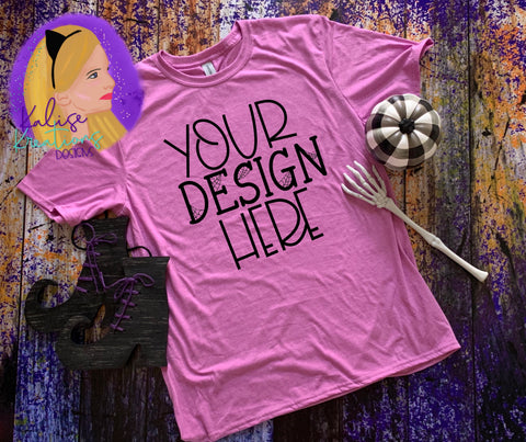Witchy Gildan 64000 heather radiant orchid Shirt Mock-up
