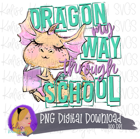 Dragon my way through school PNG