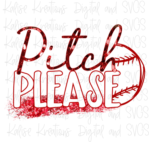 Pitch Please (Baseball) PNG