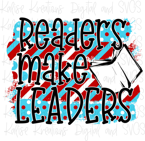 Readers make Leaders PNG