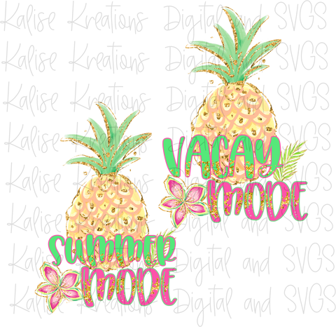Pineapple Mode Mini bundle PNG