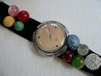 1991 Christmas Pop Swatch Watch Bottone PWK153