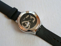 Black steps Swatch watch