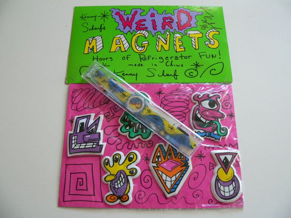 Fiz N Zip Kenny Scharf Signed Magnetic GN164PACK Swatch Watch