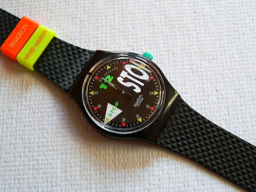 Nightshift Swatch stop watch SSB101