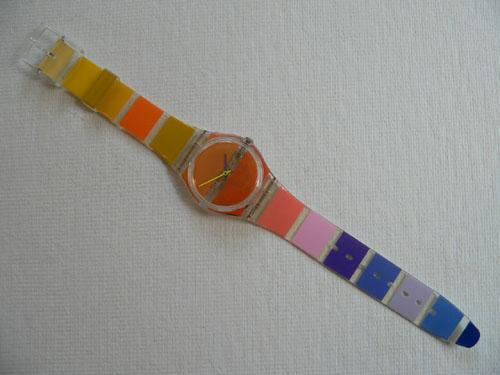 Orange Painted Time GK378 Swatch Watch