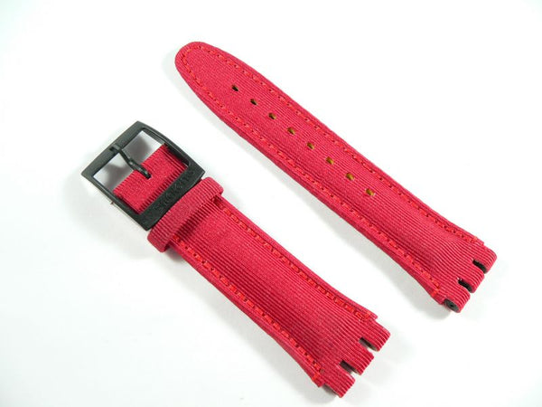 Red Leather Band Aquachrono Big Red SBB104