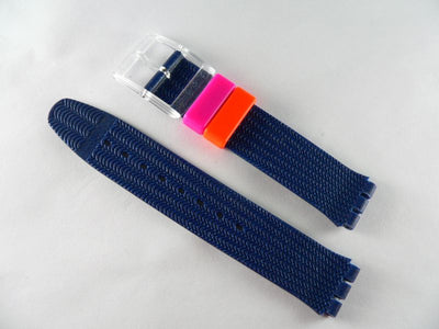 Blue Plastic with stripe band