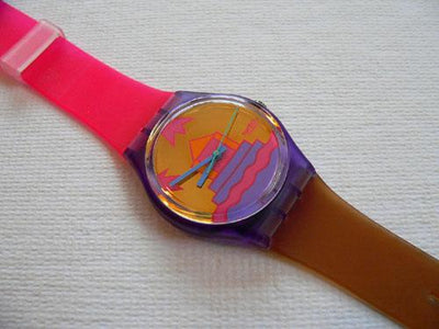 Pink Avis GV105 Swatch watch